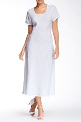 Insight Linen Maxi Tee Dress White