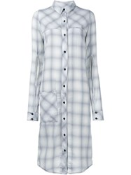 Filles A Papa Jordan Check Shirt Dress Grey