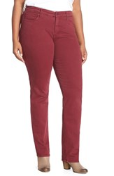 Plus Size Women's Cj By Cookie Johnson 'Faith' Stretch Straight Leg Jeans Burgundy