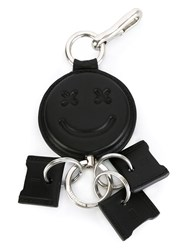 Alexander Wang Smiley Retractable Keyring Black