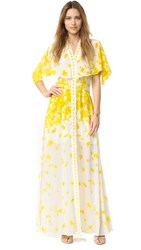 Alexis Jeannie Silk Dress Yellow Floral