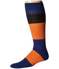 Richer Poorer Gilgamesh Navy Multi Men's Crew Cut Socks Shoes Blue