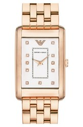 Women's Emporio Armani Rectangle Dial Watch 25Mm X 30Mm