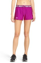 Under Armour Women's 'Play Up' Track Shorts Magenta Magenta White