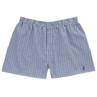 Thomas Pink Hobday Check Boxer Shorts Blue White
