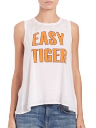 Chaser Easy Tiger' Muscle Tee White
