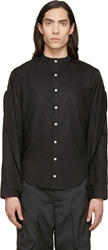 Hood By Air Black Lapel Sleeves Shirt