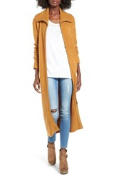 Sun And Shadow Women's Zip Front Duster Cardigan