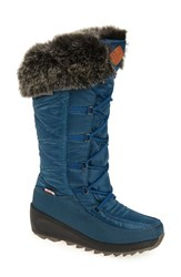 Kamik Women's Pinot Waterproof Boot With Faux Fur Cuff Teal
