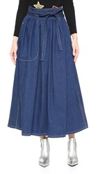 Marc Jacobs Midi Wrap Skirt Indigo