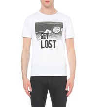 Replay Get Lost Cotton Jersey T Shirt White