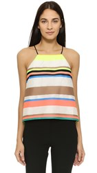 Milly Stripe Trapeze Camisole Multi