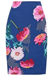 Banana Republic Pencil Skirt Pink Dark Blue