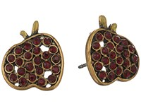 Marc Jacobs Charms Apple Studs Earrings Red