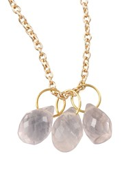Rose Quartz Teardrop Charm Heather Moore