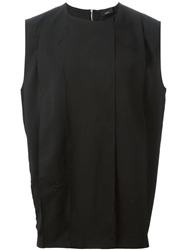 Thamanyah Panelled Tank Top Black