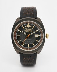 Vivienne Westwood Leather Strap Watch Vv136bkbk Black