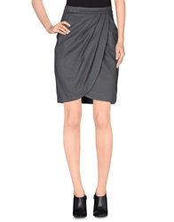 Miss Sixty Knee Length Skirts Grey