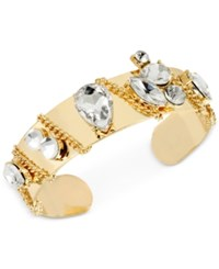 Inc International Concepts Crystal Chain Cuff Bracelet Only At Macy's Clear