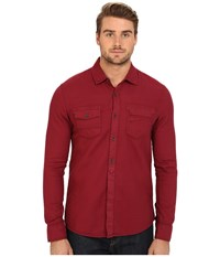 Mavi Jeans Denim Shirt Burnt Red Men's Long Sleeve Button Up