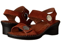 La Plume Abigail Brown Woven Women's Sandals