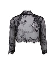 Gina Bacconi Scalloped Lace Bolero Black