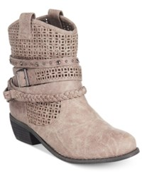 Naughty Monkey Not Rated Vanoora Perforated Ankle Booties Women's Shoes Grey