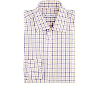 Etro Men's Plaid Dress Shirt Purple