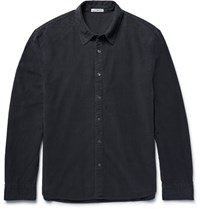 James Perse Cotton Moleskin Shirt Charcoal