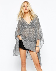 Abercrombie And Fitch Kaftan With Floral Print Multi
