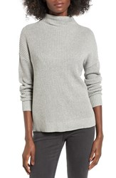 Women's Bp. Mock Neck Sweater Grey Cloudy Heather