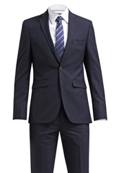 Burton Menswear London Slim Fit Suit Navy Dark Blue