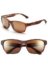 Men's Maui Jim 'Mixed Plate Polarizedplus2' 58Mm Sunglasses Matte Tortoise Bronze