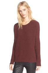 Women's Vince Ribbed Scoop Neck Cashmere Pullover Wysteria