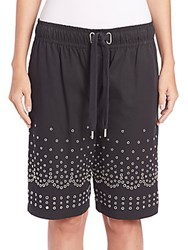 Alexander Wang Low Rise Board Shorts Onyx