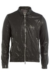 Giorgio Brato Leather Jacket Black