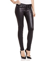 Ag Jeans Ag Adriano Goldschmied Leather Legging In Super Black