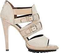 Belstaff Finchley Double Buckle Sandals Nude
