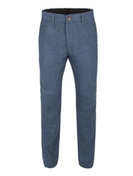 Gibson Men's Blue Herringbone Trouser Blue