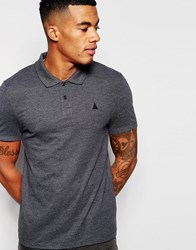 Asos Muscle Pique Polo With Embroidery In Grey Charcoal Marl