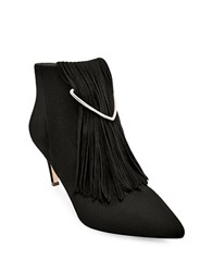 Brian Atwood Perri Fringed Ankle Boots Black