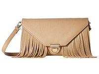 Mighty Purse Vegan Leather Charging Tassel Wallet Bag Nude Wallet Handbags Beige