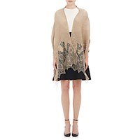 Valentino Women's Lace End Plisse Stole Gold
