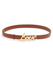 Stella Mccartney Love Faux Leather Belt Cognac