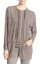 Women's Soft Joie 'Damasia' Linen And Cotton Cardigan Caviar