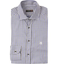 Corneliani Regular Fit Check Shirt Blue