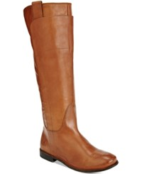 Frye Paige Riding Boots Women's Shoes Cognac