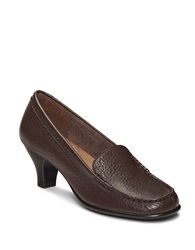 Aerosoles Wise Choice Leather Loafers Dark Brown