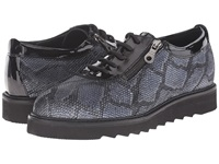 Helle Comfort Damiana Black Python Women's Lace Up Casual Shoes