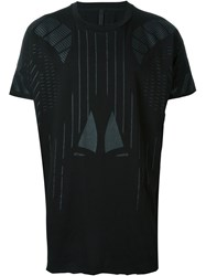 Barbara I Gongini Geometric Print T Shirt Black